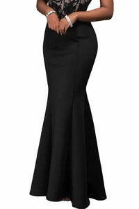 superior quality coupon codes footwear Red Mermaid Luxe Maxi Skirt womens elegant flared pleated ...