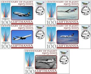 LUFTHANSA-AIRLINES-CENTENARY-OF-FLIGHT-SET-OF-5-COVERS