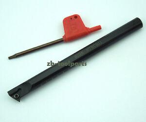 107.5 Degree 10x125mm screw type inner hole boring bar turning tool S10K SDQCL07