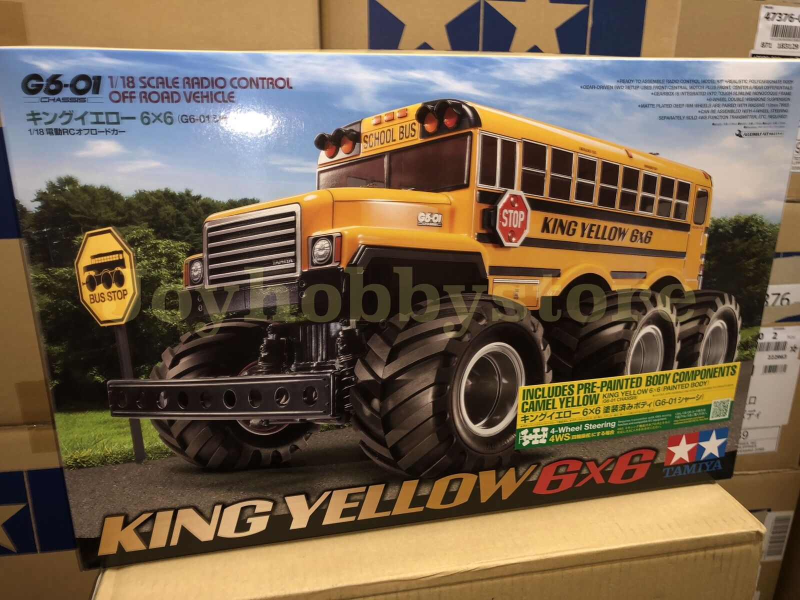 Tamiya 47376 1 18 RC re gituttio  School autoautobus 6X6 G6-01 Painted corpo Off strada Kit  Miglior prezzo