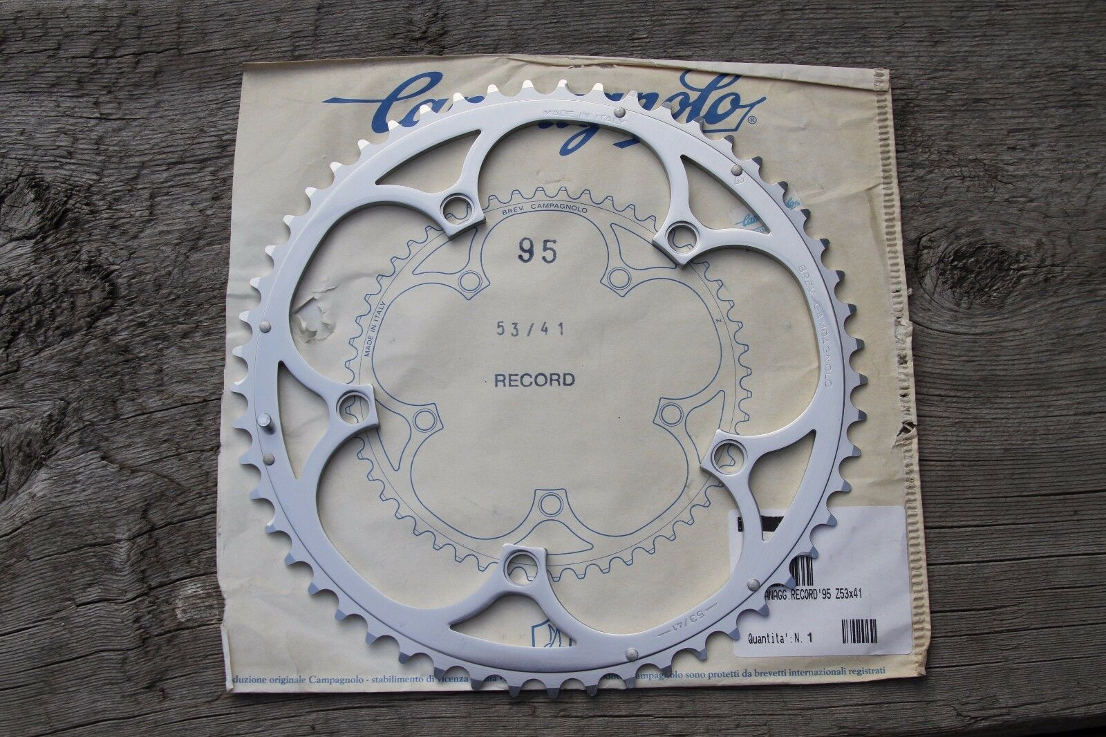1995 Campagnolo Record 53T chainring NOS 130BCD 53 41