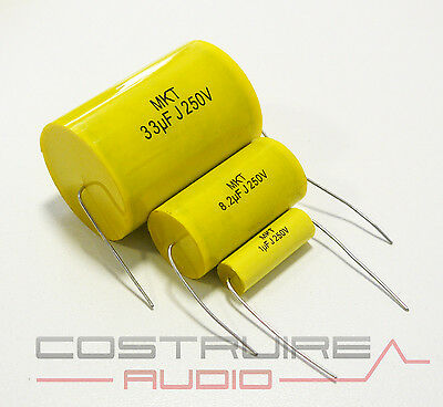 Condensatore MKT 15,00 uF 5/% POLIESTERE Cap 250 VOLT filtro audio crossover