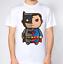 Superman /& Batman T-Shirt Cartoon Superhero Top