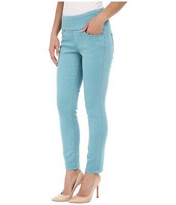 Jag Amelia Ankle Women's Oceana Blue Green Pull-On Knit Denim Pants//Jeans