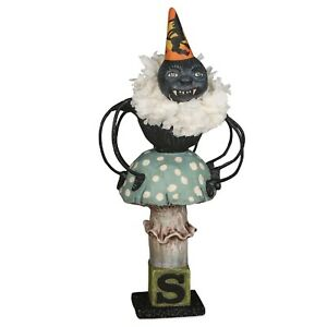 Bethany-Lowe-Halloween-Spider-On-Toad-Stool-HH9219-By-Debra-Schoch
