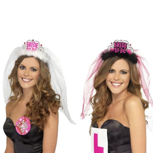 Bride To Be Crown Hairy Tiara  Bachelorette Girls Night Hen Party Flashing JAUK