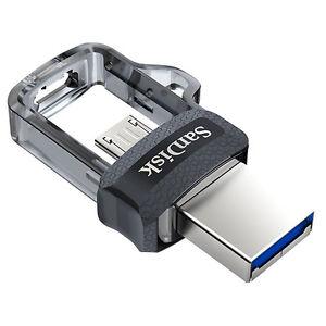 Sandisk Ultra Dual M3 0 16gb 32gb 64gb 128gb Usb 3 0 Otg Pen Drive