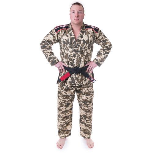 BJJ Kimono and Pants KO Sports Gear/'s Camo Kid/'s Gi Light-Weight Rip Stop