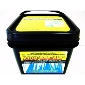 Roof Melt Tablets Pellet for Ice Melting Calcium Chloride 14-LB Bucket 60-Tablet