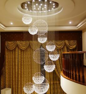 spiral k9 led crystal ceiling lamp chandelier lighting pendant light