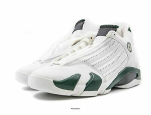 f0cd495ba4dc39 Image is loading AIR-JORDAN-14-White-Forest-Green-Size-9-