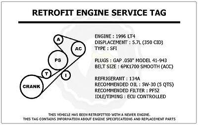 2000 pontiac montana engine diagram belt 1996 lt4 5 7l corvette retrofit engine service tag belt routing  1996 lt4 5 7l corvette retrofit engine