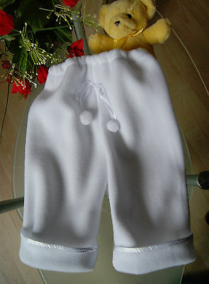 Fleecehose Baby Taufe Taufkleidung *Taufkleid Taufhose Fleece