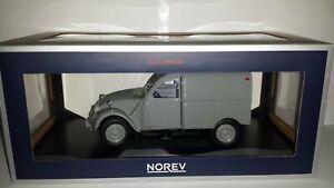 Norev-1-18-Citroen-2CV-Fourgonnette-1957-grijs-nieuw-in-doos