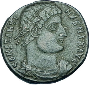 CONSTANTINE-I-the-GREAT-330AD-Authentic-Ancient-Roman-Coin-w-SOLDIERS-i65924