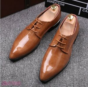 Fashion-Mens-Dress-Shoes-Wedding-Groom-Shoes-Patent-Leather-Business-Formal-Shoe
