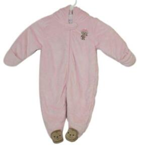 5aa0faedf Carters Baby Girl Just One You Pink Fleece Hooded One Piece Pram ...