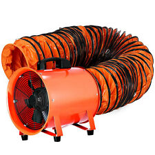12 Extractor Fan Blower Portable With5m Duct Hose Ventilator Industrial Air Mover