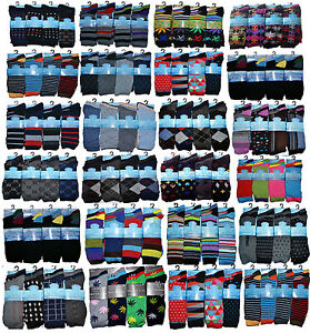 12-Pairs-Men-s-Multi-Pattern-COTTON-DESIGN-SOCKS-Assorted-Color-Socks-Size-6-11