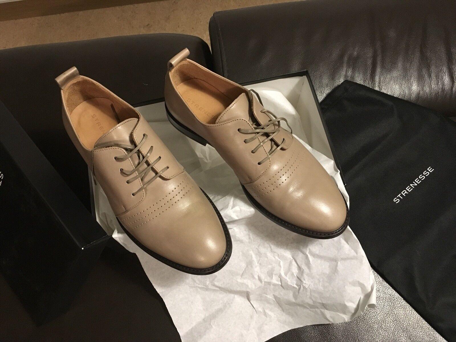 Strenesse Herren Schuhe Casual Echtleder Vollleder Gr. 42 44,5 Italy