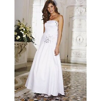 Veronica Fishtail Jewel Wedding Dress NICK MILL sz12 *BROKEN ZIP*  **RRP £300**