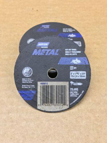 "QTY:10 Genuine Norton Aluminum Oxide Cut off Discs  3/"" X 1//16/"" X 3//8/"" 89012"