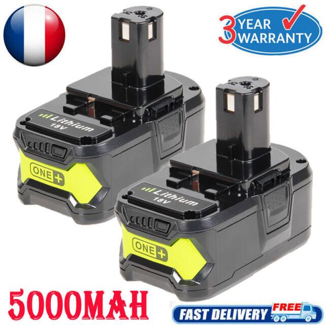 2x 18V Li-Ion 5.0AH Batterie Pour Ryobi One Plus BPL1820 BPL-1815 P107 P108 P109