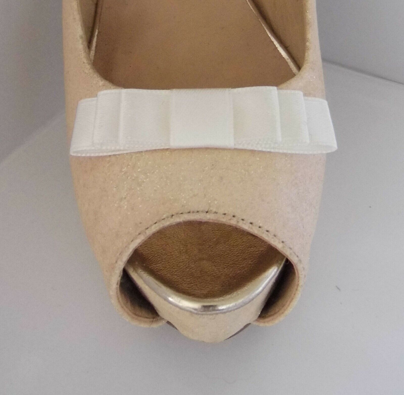 2 Small Ivory Triple Bow Shoe Clips - other colours on request