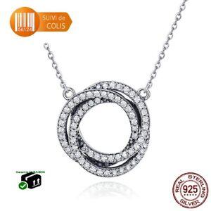Collier-avec-pendentif-en-argent-massif-sterling-silver-925-motif-Anneaux