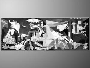 QUADRO-DIPINTO-A-MANO-Guernica-olio-su-tela-PICASSO-ASTRATTO-gia-montato