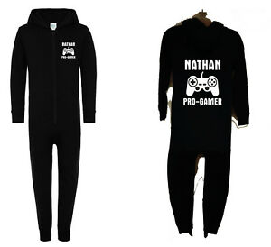 Boys//Girls Personalised PRO-GAMER One Piece All in one Choose Design  5 Sizes