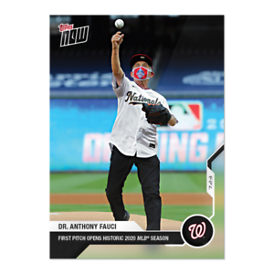 2020 Topps NOW Card #2 Dr. Anthony Fauci 1st First Pitch of 2020 Pre-Sale READ!