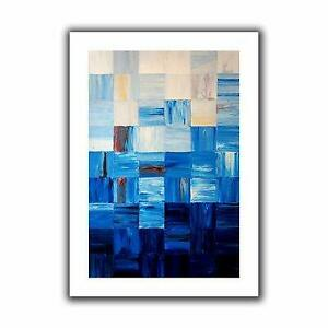ArtWall Bluesquares by Shiela Gosselin Painting Print on Rolled Canvas - 79% Off Canada Preview