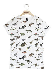 Batch1-DINOSAUR-All-Over-Print-Unisex-T-Shirt-Fun-Jurassic-Fashion-Animal-Print