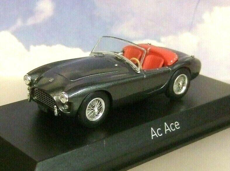 Norev 1 43 de Metal 1957Ac Ace Abierto Metálico grigio Metálico Interior rosso