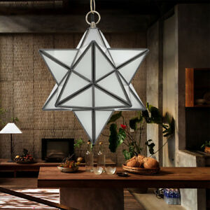 Details About Frosted Gl Moravian Star Lighting Ceiling Lamp Fixtures Light Rooms Dome