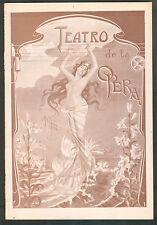 TEATRO DE LA OPERA MANON HARICLEE DARCLEE & G. ANSELMI 1902 PROGRAM