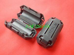 50Pcs BLACK Clip-on RFI EMI Filter Ferrite Ferrites TDK 7mm New