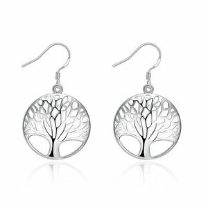 Fashion-charms-tree-party-Silver-925-cute-women-lady-Earring-Jewelry-hot-gift
