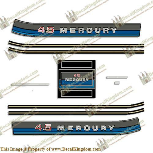 Mercury 1980 Outboard Decal Kit Multiple Dimensiones Available 3M Marine Grade