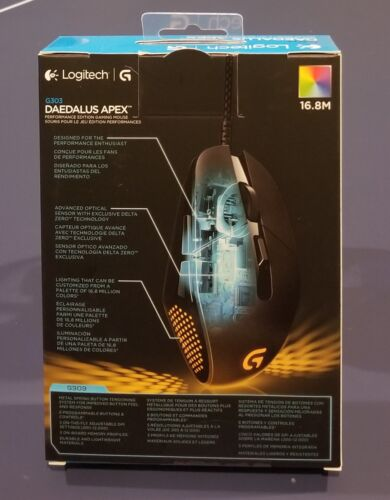 910-004380 SEALED Logitech G303 Daedalus Apex Performance Edition Gaming Mouse