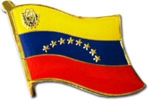 Wholesale Pack of 6 Venezuela Country Flag Bike Hat Cap lapel Pin
