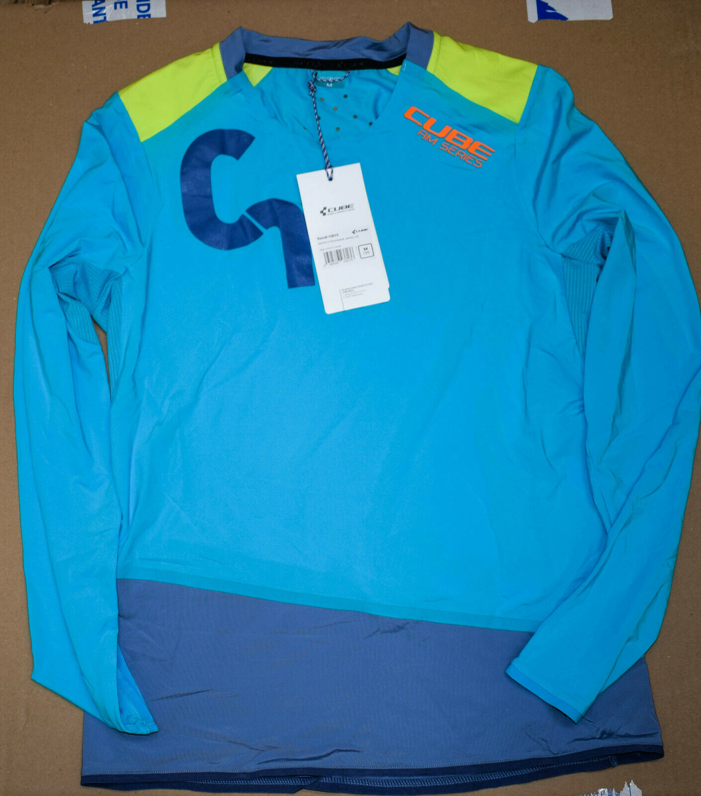 Ladies long sleeve cycling shorts  all mountain cube size m (38)  limit buy