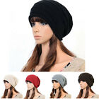 Unisex Ladies Women Knit Winter Warm Ski Slouch Oversized Beanie Hat Baggy Cap