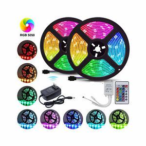 10M-RGB-Waterproof-300-LED-Strip-Light-SMD-44-Key-Remote-12V-DC-Power-Kit-5050