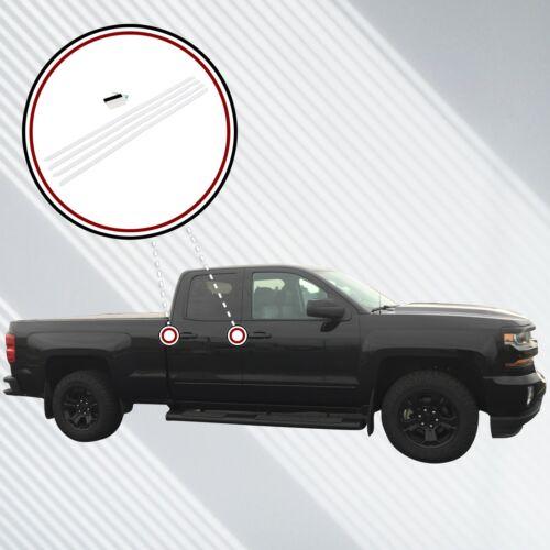 2014-18 fits Chevy Silverado Double Cab Invisible Door Edge Guards Pre-Cut Clear