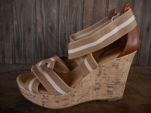 45a6c9c5fe7f Emilia Tan Merona Women's Espadrille Sandals Size 7.5 Wedge Heel ...