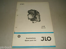 Teileliste Ersatzteilliste Spare Parts List JLO (ILO) Motor Typ S 35, 05/1971