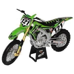 Details about Bud Racing Kawasaki KXF450 Die-Cast Motocross Toy Model Bike  motorbike 1:12 #121