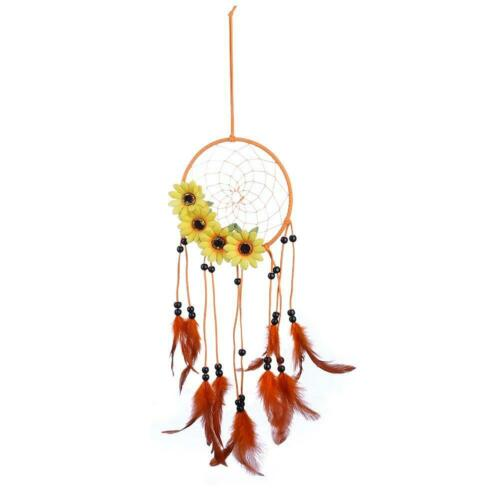 Pastoral Wind Sunflower Dream Catcher Feather Car Wall Hanging Decoration